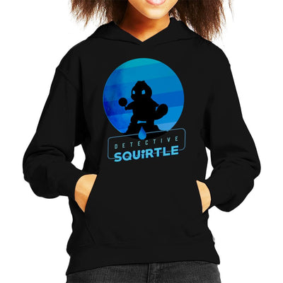 Detective Squirtle Silhouette Kid's Hooded Sweatshirt by douglasstencil - Cloud City 7