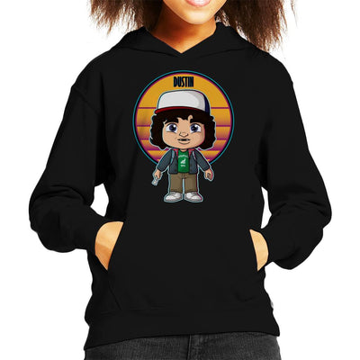 Stranger Things Cute Dustin Kid's Hooded Sweatshirt by douglasstencil - Cloud City 7