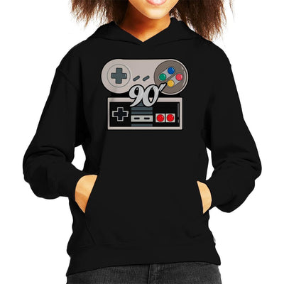 NES SNES 90s Gamer Kid's Hooded Sweatshirt by douglasstencil - Cloud City 7
