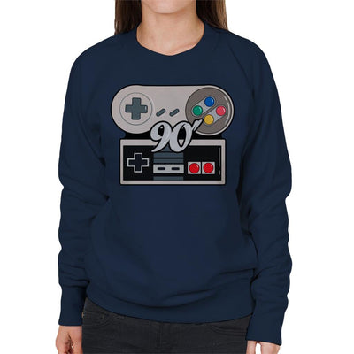 NES SNES 90s Gamer Women's Sweatshirt by douglasstencil - Cloud City 7