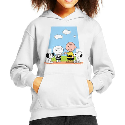 Generations Charley Brown And Snoopy Peanuts Kid's Hooded Sweatshirt by douglasstencil - Cloud City 7