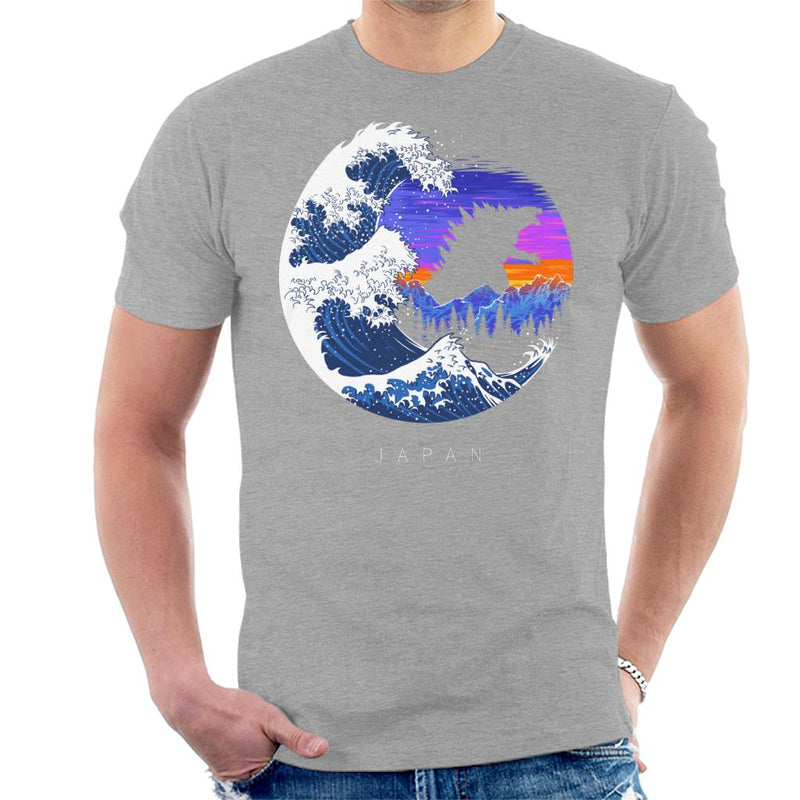 Tsunami Wave Godzilla Men's T-Shirt by Albertocubatas - Cloud City 7