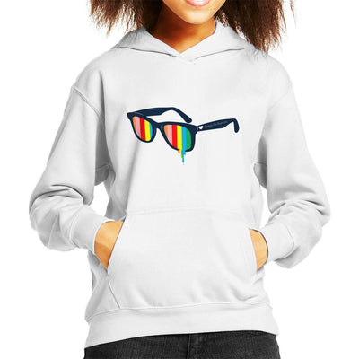 Glasses For Pessimists Kid's Hooded Sweatshirt by Douglasstencil - Cloud City 7