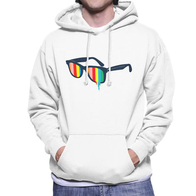 Glasses For Pessimists Men's Hooded Sweatshirt by Douglasstencil - Cloud City 7