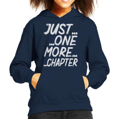 Just One More Chapter Kid's Hooded Sweatshirt by happeace - Cloud City 7