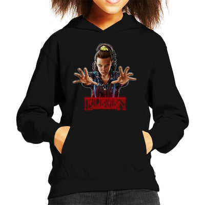 Stranger Things S3 Eleven Kid's Hooded Sweatshirt by Sam Green - Cloud City 7