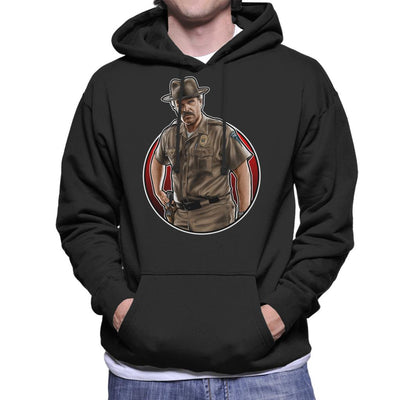Stranger Things S3 Hopper Men's Hooded Sweatshirt by Sam Green - Cloud City 7