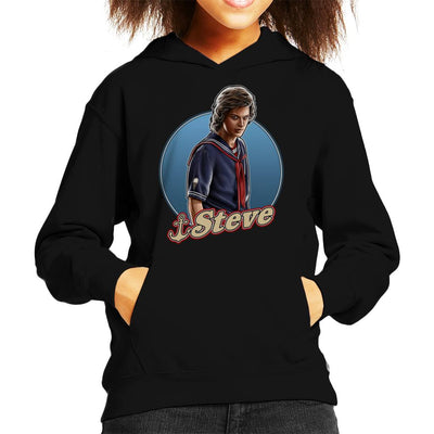 Stranger Things S3 Scoops Ahoy Steve Kid's Hooded Sweatshirt by Sam Green - Cloud City 7