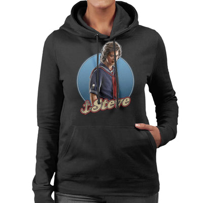 Stranger Things S3 Scoops Ahoy Steve Women's Hooded Sweatshirt by Sam Green - Cloud City 7