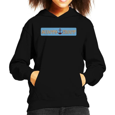 Stranger Things S3 Scoops Troop Logo Kid's Hooded Sweatshirt by Sam Green - Cloud City 7