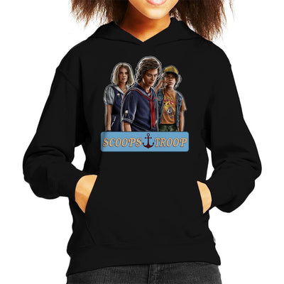 Stranger Things S3 Scoops Troop Kid's Hooded Sweatshirt by Sam Green - Cloud City 7