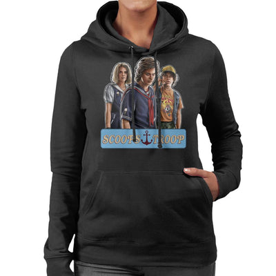 Stranger Things S3 Scoops Troop Women's Hooded Sweatshirt by Sam Green - Cloud City 7