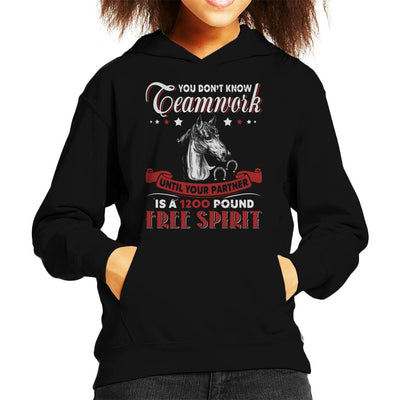 You Dont Know Teamwork Horse Kid's Hooded Sweatshirt by Happeace - Cloud City 7