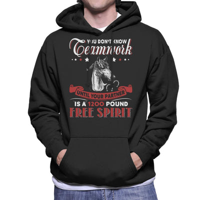 You Dont Know Teamwork Horse Men's Hooded Sweatshirt by Happeace - Cloud City 7