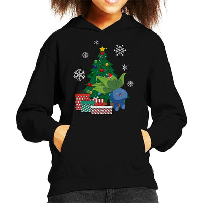 Oddish Around The Christmas Tree Kid's Hooded Sweatshirt by Nova5 - Cloud City 7