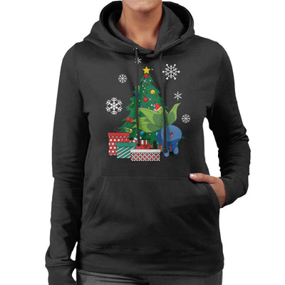Oddish Around The Christmas Tree Women's Hooded Sweatshirt by Nova5 - Cloud City 7