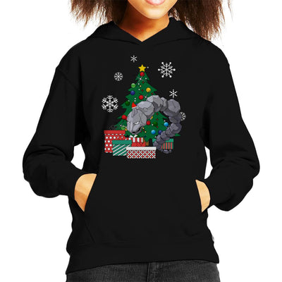 Onix Around The Christmas Tree Kid's Hooded Sweatshirt by Nova5 - Cloud City 7