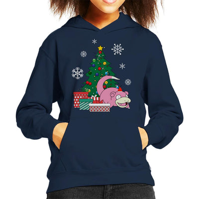 Slowpoke Around The Christmas Tree Kid's Hooded Sweatshirt by Nova5 - Cloud City 7