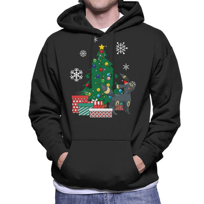 Umbreon Around The Christmas Tree Men's Hooded Sweatshirt by Nova5 - Cloud City 7