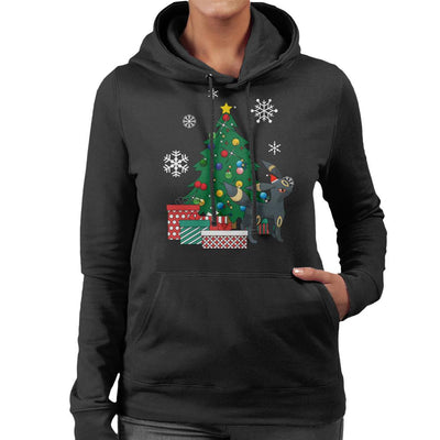 Umbreon Around The Christmas Tree Women's Hooded Sweatshirt by Nova5 - Cloud City 7