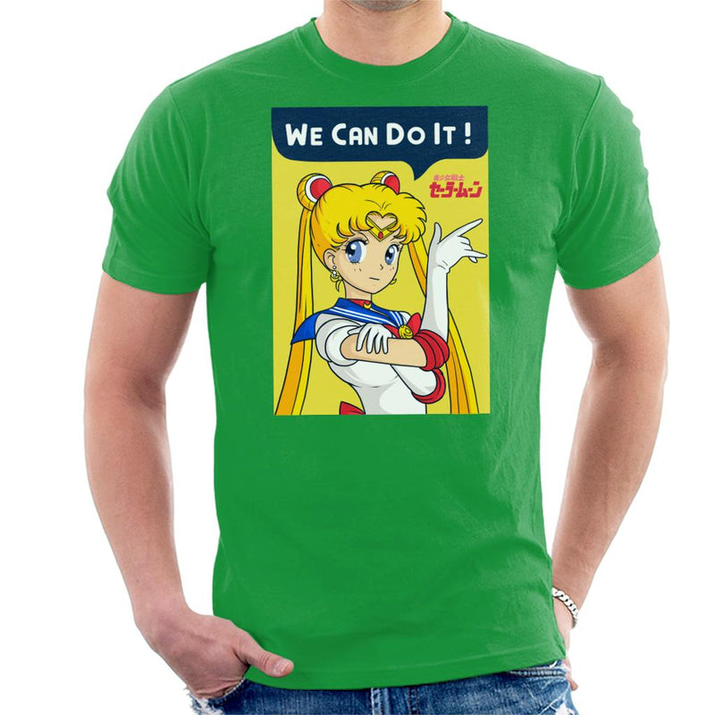 We Can Do It Sailor Moon Light Men's T-Shirt by douglasstencil - Cloud City 7