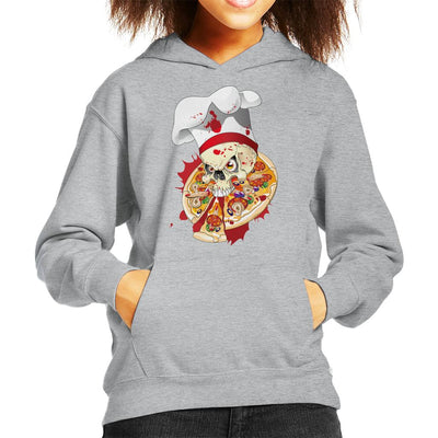 Halloween Pizza Delivery Kid's Hooded Sweatshirt by crbndesign - Cloud City 7