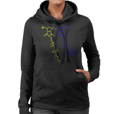 Sulfur Chemical Structure Women's Hooded Sweatshirt by crbndesign - Cloud City 7