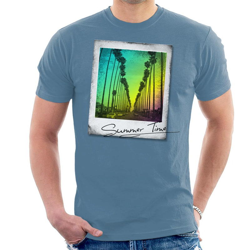 Summer Time Retro Photo Men's T-Shirt by crbndesign - Cloud City 7
