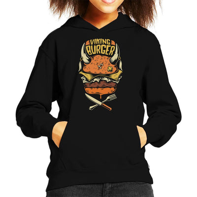 Viking Burger Kid's Hooded Sweatshirt by crbndesign - Cloud City 7