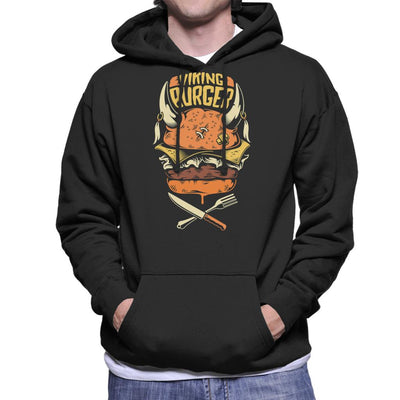 Viking Burger Men's Hooded Sweatshirt by crbndesign - Cloud City 7