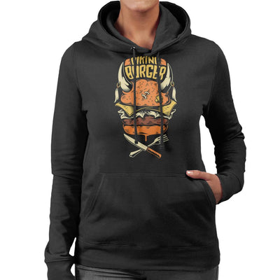 Viking Burger Women's Hooded Sweatshirt by crbndesign - Cloud City 7