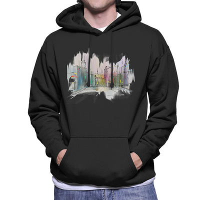 Watercolour City Men's Hooded Sweatshirt by crbndesign - Cloud City 7