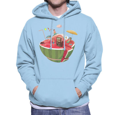 Watermelon Beach Men's Hooded Sweatshirt by crbndesign - Cloud City 7