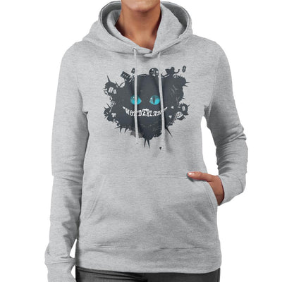 Wonderland Cheshire Cat Women's Hooded Sweatshirt by crbndesign - Cloud City 7