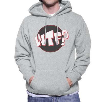 WTF Comic Text Men's Hooded Sweatshirt by crbndesign - Cloud City 7