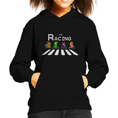 The Racing Super Mario Kart Abbey Road Kid's Hooded Sweatshirt by Douglasstencil - Cloud City 7