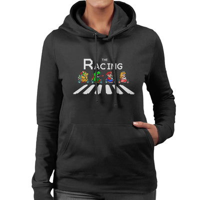 The Racing Super Mario Kart Abbey Road Women's Hooded Sweatshirt by Douglasstencil - Cloud City 7