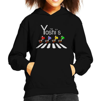 The Yoshis Super Mario Abbey Road Kid's Hooded Sweatshirt by Douglasstencil - Cloud City 7
