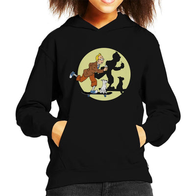 Tim Tim Skater Tin Tin Kid's Hooded Sweatshirt by Douglasstencil - Cloud City 7