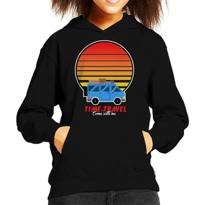 Time To Travel Sunset Kid's Hooded Sweatshirt by Douglasstencil - Cloud City 7