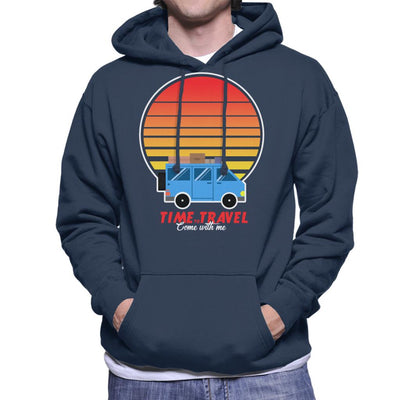 Time To Travel Sunset Men's Hooded Sweatshirt by Douglasstencil - Cloud City 7
