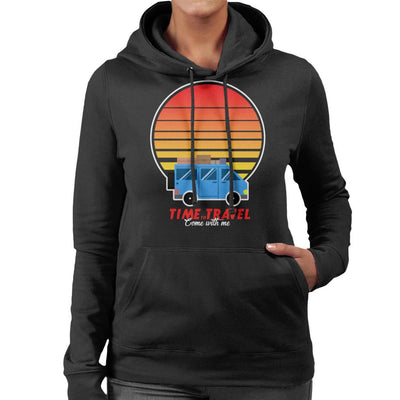 Time To Travel Sunset Women's Hooded Sweatshirt by Douglasstencil - Cloud City 7