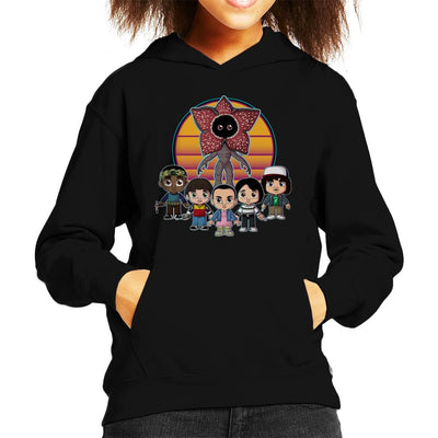 Stranger Things Upside Down Cute Kid's Hooded Sweatshirt by Douglasstencil - Cloud City 7