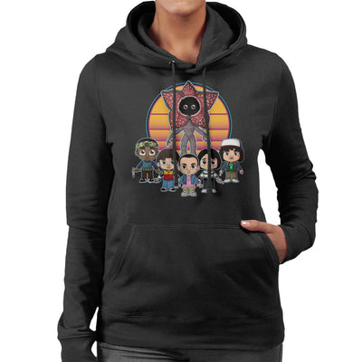 Stranger Things Upside Down Cute Women's Hooded Sweatshirt by Douglasstencil - Cloud City 7