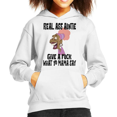 Real Ass Auntie Kid's Hooded Sweatshirt by Nathan - Cloud City 7