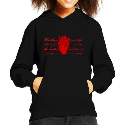 What The Eye Doesnt See The Heart Doesnt Grieve Over Kid's Hooded Sweatshirt by SimpliciTEES - Cloud City 7