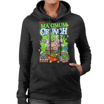 Broly Maximum Crunch Cereal Dragon Ball Z Women's Hooded Sweatshirt by Create Or Destroy - Cloud City 7