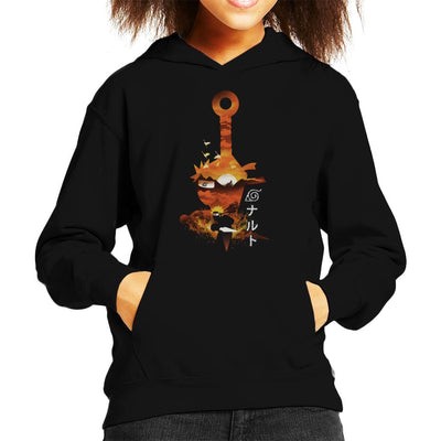 Naruto Silhouette Sunset Montage Kid's Hooded Sweatshirt by dandingeroz - Cloud City 7