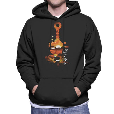 Naruto Silhouette Sunset Montage Men's Hooded Sweatshirt by dandingeroz - Cloud City 7