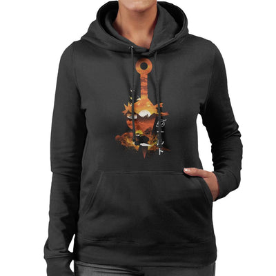Naruto Silhouette Sunset Montage Women's Hooded Sweatshirt by dandingeroz - Cloud City 7